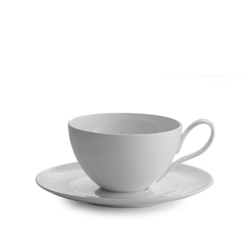 Nambe Skye Caf? Au Lait Cup and Saucer