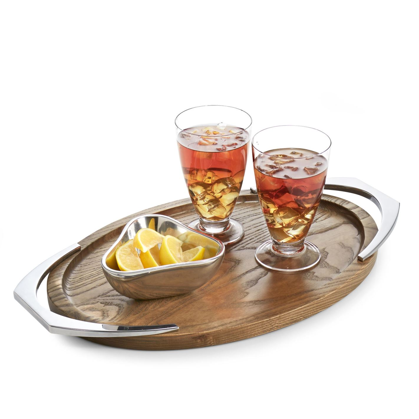Nambe Cabo Oval Handled Tray