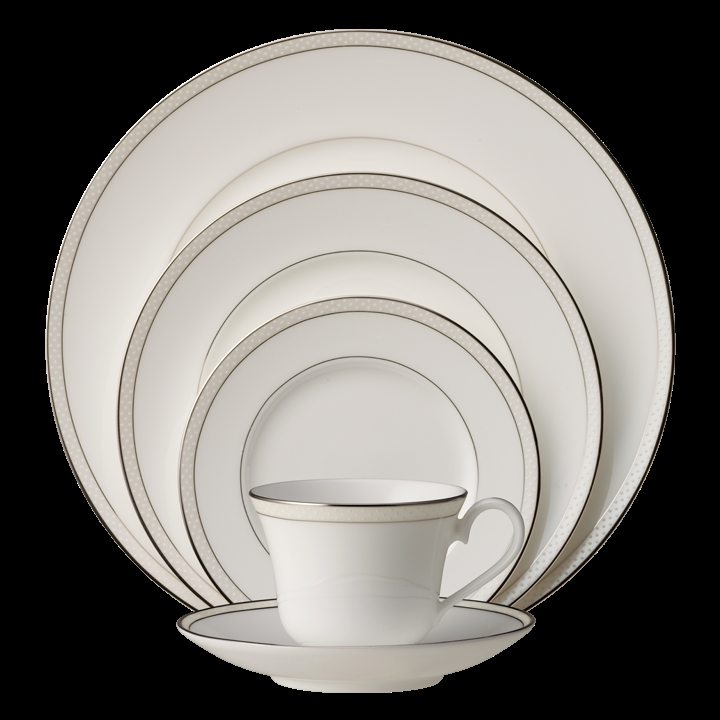 Nikko Platinum Beaded Pearl Dinnerware