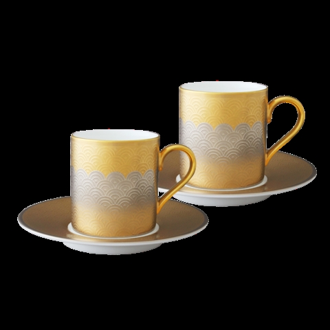 Nikko Fortune Espresso Cup and Saucer (Set of 2)