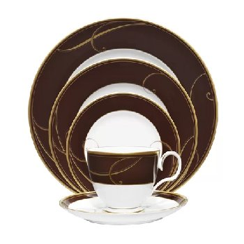 Noritake GOLDEN WAVE CHOCOLATE Dinnerware