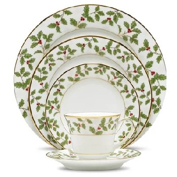 Noritake HOLLY & BERRY GOLD Dinnerware