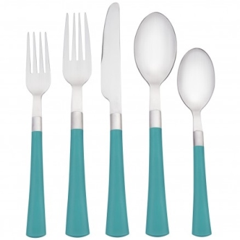 Noritake COLORWAVE TURQUOISE 5 PC FLATWARE SET
