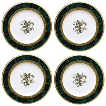 Noritake Fitzgerald Set/4,Holiday Accent Plate