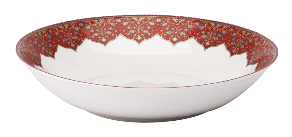 Philippe Deshoulieres Dhara red soup/cereal plate