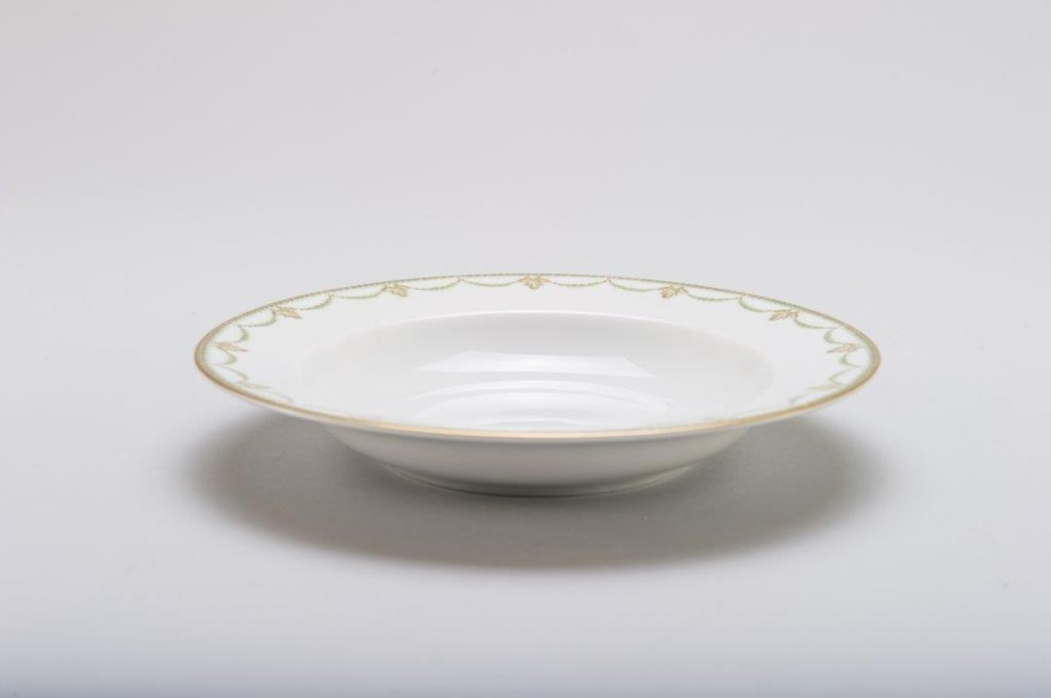 Philippe Deshoulieres Sully green rim soup plate