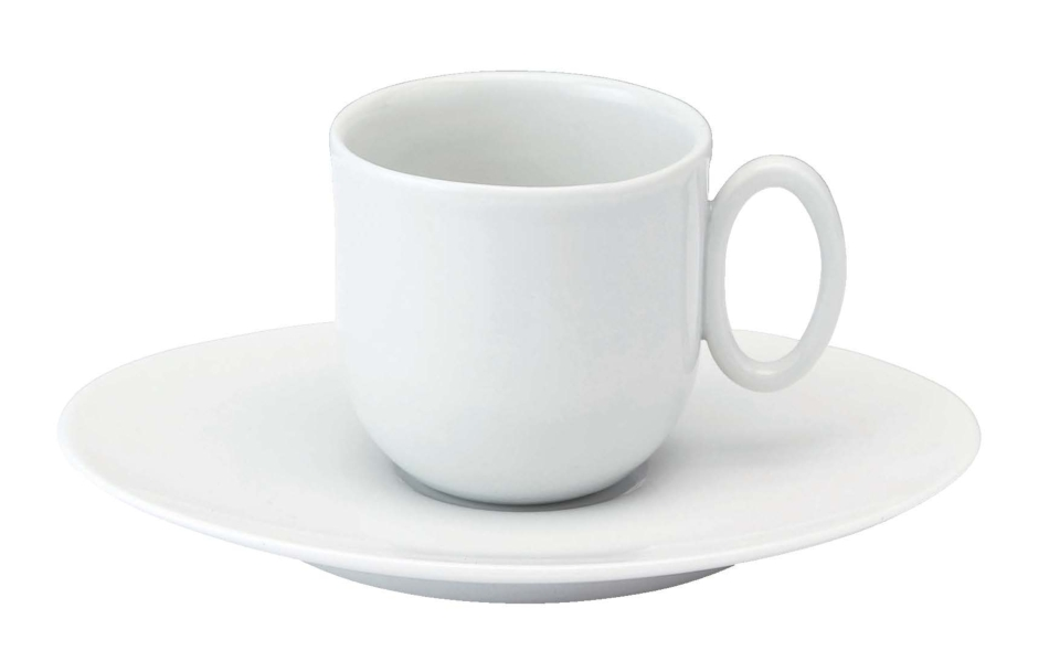 Philippe Deshoulieres Epure white Coffee cup and saucer