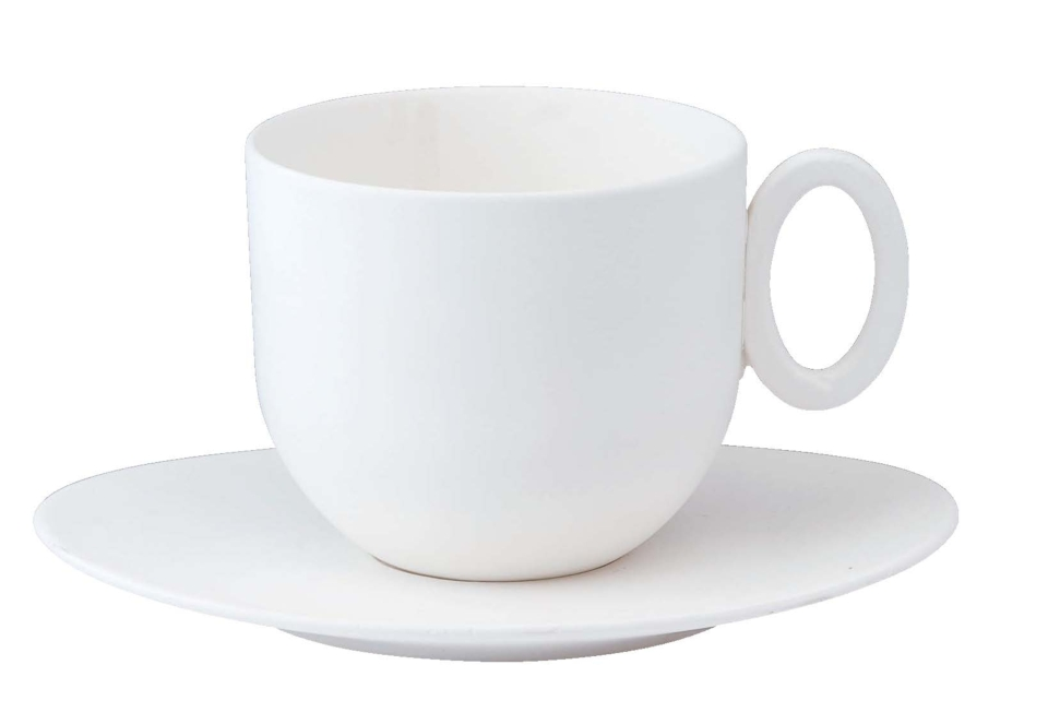 Philippe Deshoulieres Epure white Tea cup and saucer