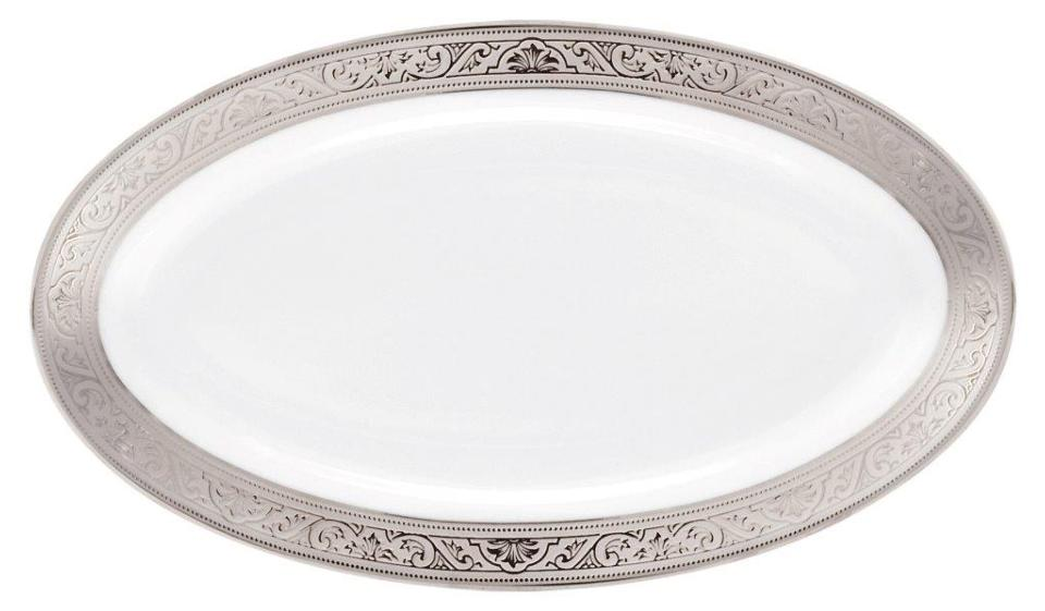 Philippe Deshoulieres Trianon platinum relish dish/sauce boat tray