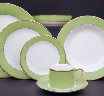 Pickard Green Gold Ivory