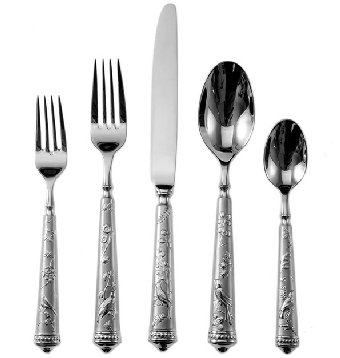 Ricci Audubon's Bird Of Paradise Stainless  Flatware