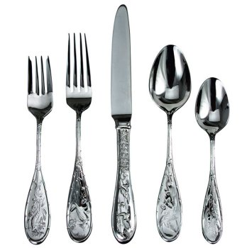 Ricci Japanese Bird and Bamboo Stainless Flatware