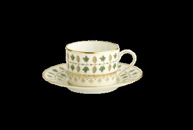 Robert Haviland MATIGNON GREEN Tea Cup and Saucer