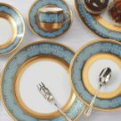 Robert Haviland FLAMMES D'OR BLUE Five Piece Place Setting