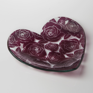 Annieglass Rose Heart