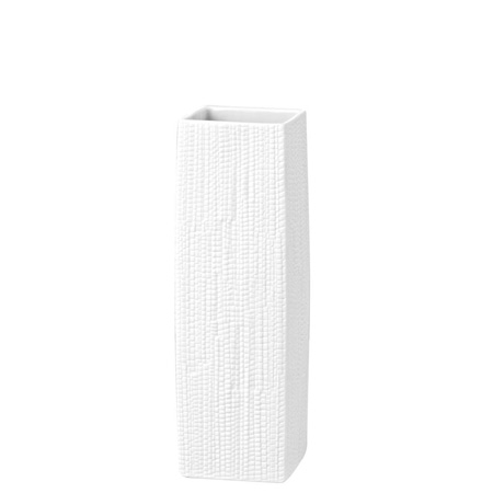 Rosenthal Structura Leather Vase 9 3/4 inch, White