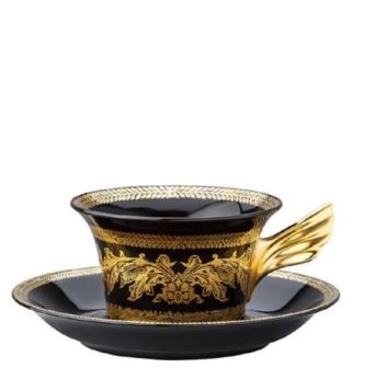 Versace 25 Years - Gold Baroque Tea Cup & Saucer