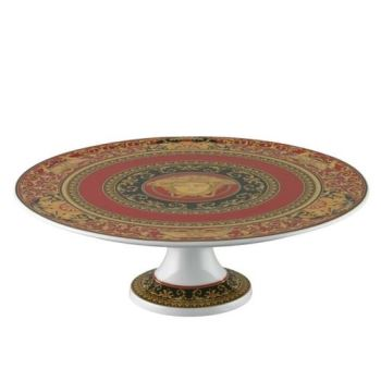 Versace Medusa Red Footed Cake Plate