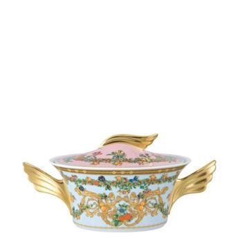 Versace Butterfly Garden Vegetable Bowl Covered