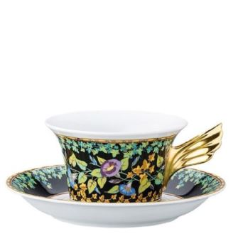 Versace 25 Years - Gold Ivy  Tea Cup & Saucer