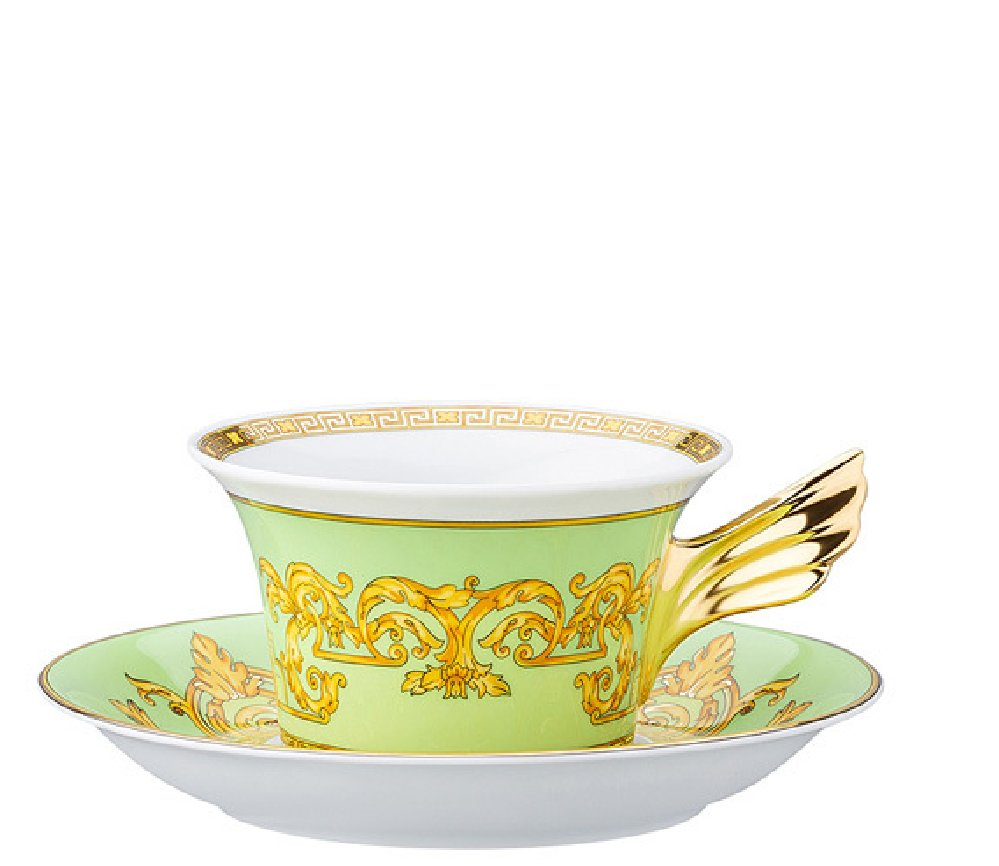 Versace 25 Years - Green Floralia  Tea Cup & Saucer