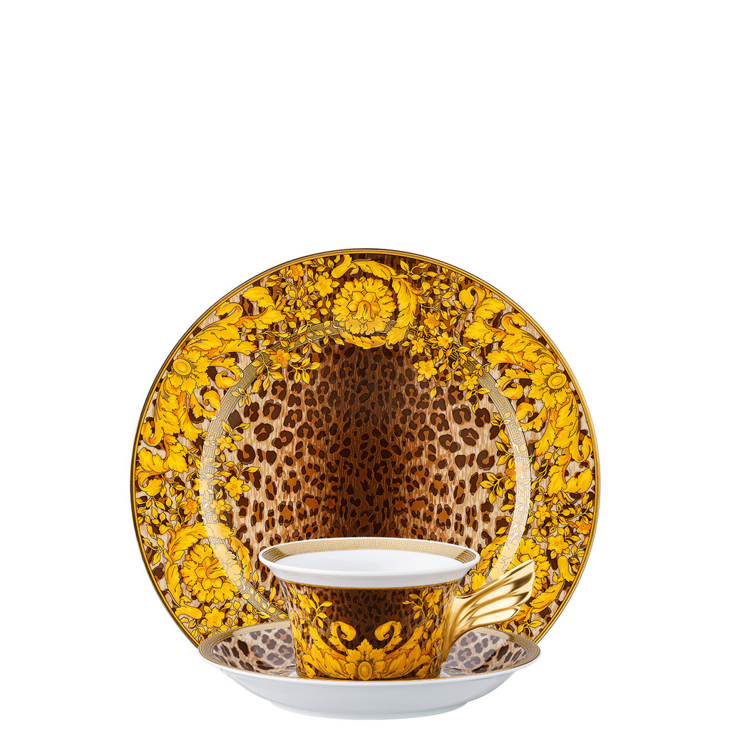 Versace 25 Years - Wild Floralia  Tea Cup and Saucer & Dessert Plate Set, 3 pcs