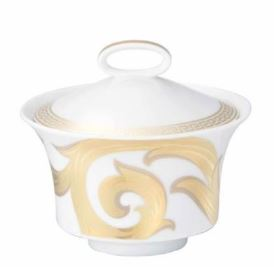 Versace Arabesque Gold Sugar Bowl Covered