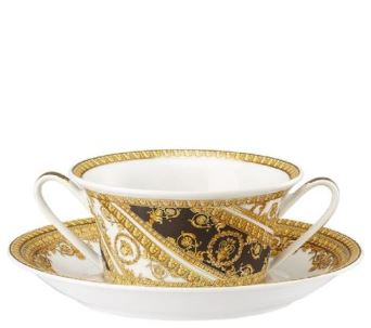 Versace I Love Baroque Cream Soup Cup & Saucer