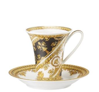 Versace I Love Baroque Coffee Cup & Saucer