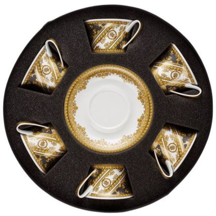 Versace I Love Baroque Tea Cup & Saucer Set/Six Round Hat Box