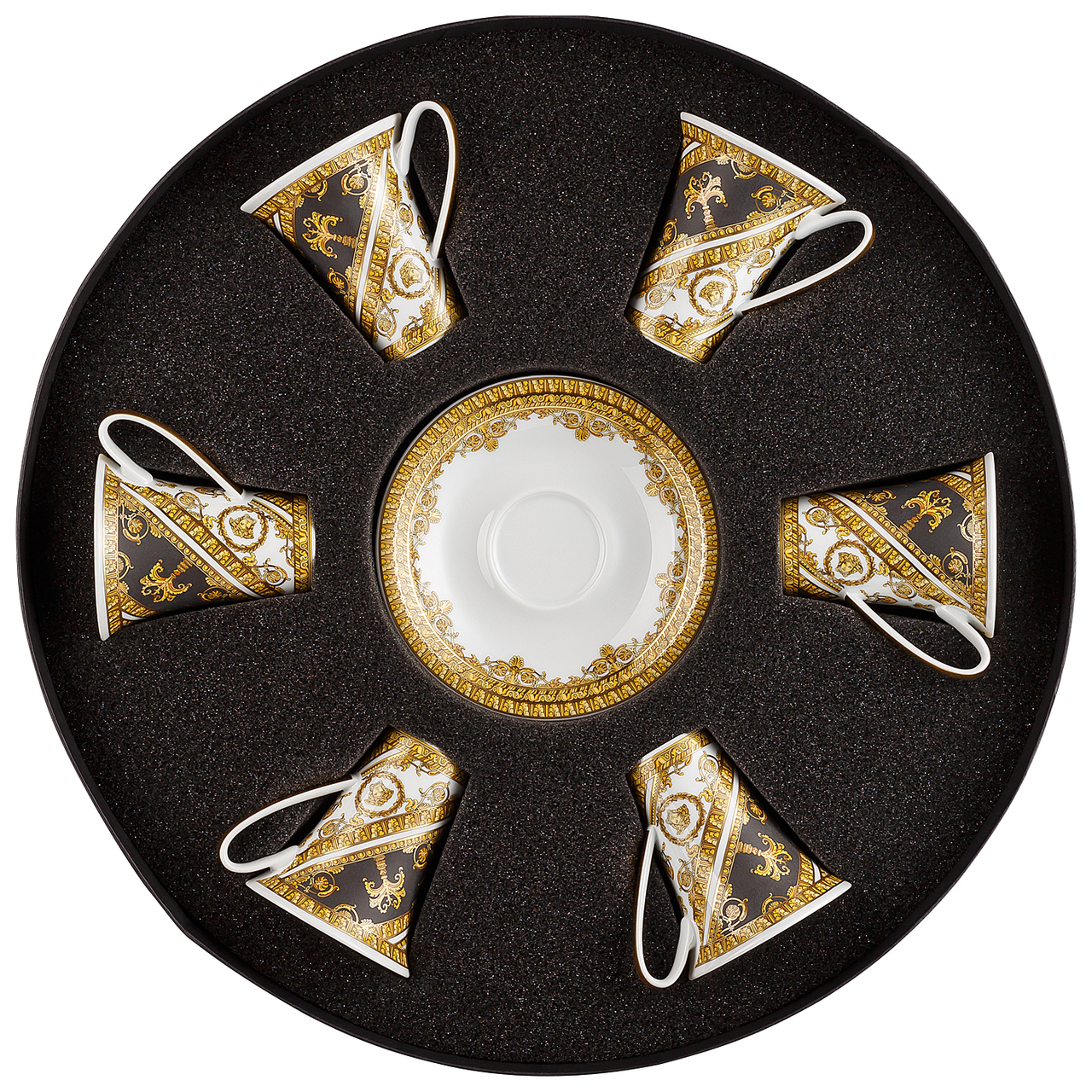 Versace I Love Baroque AD Cup & Saucer Set/Six Round Hat Box