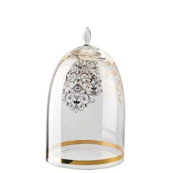 Versace Medusa Gala Glass Dome for Etagere 2 tiers