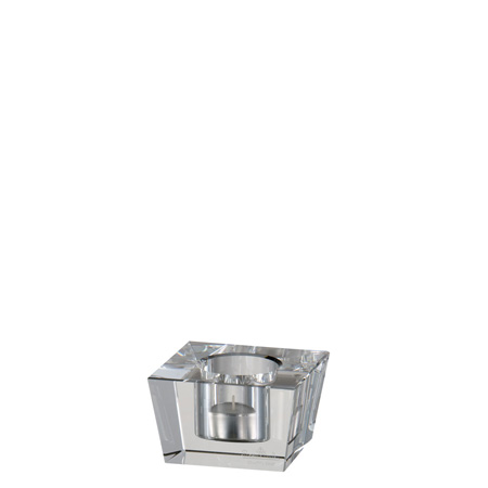 Rosenthal Block Glas Clear Votive 3 inch Square, 2 inch Tall
