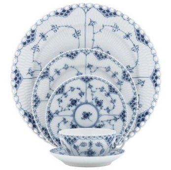 Royal Copenhagen Blue Fluted Full Lace Dinnerware