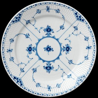 Royal Copenhagen Blue Fluted Half Lace Dinnerware