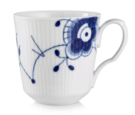Royal Copenhagen BLUE FLUTED MEGA LATTE MUG WITH HANDLE 15.5OZ.