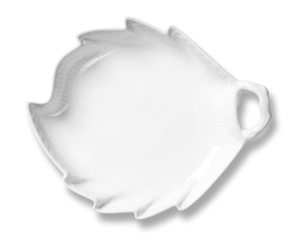 Royal Copenhagen WHITE FLUTED HALF LACE ACCENT DISH