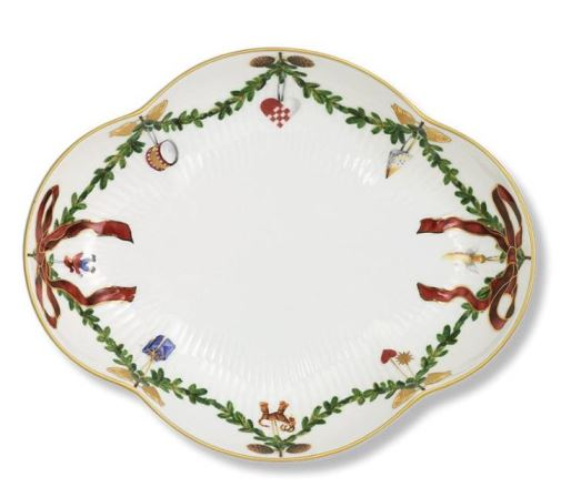Royal Copenhagen STAR FLUTED CHRISTMAS ACCENT DISH