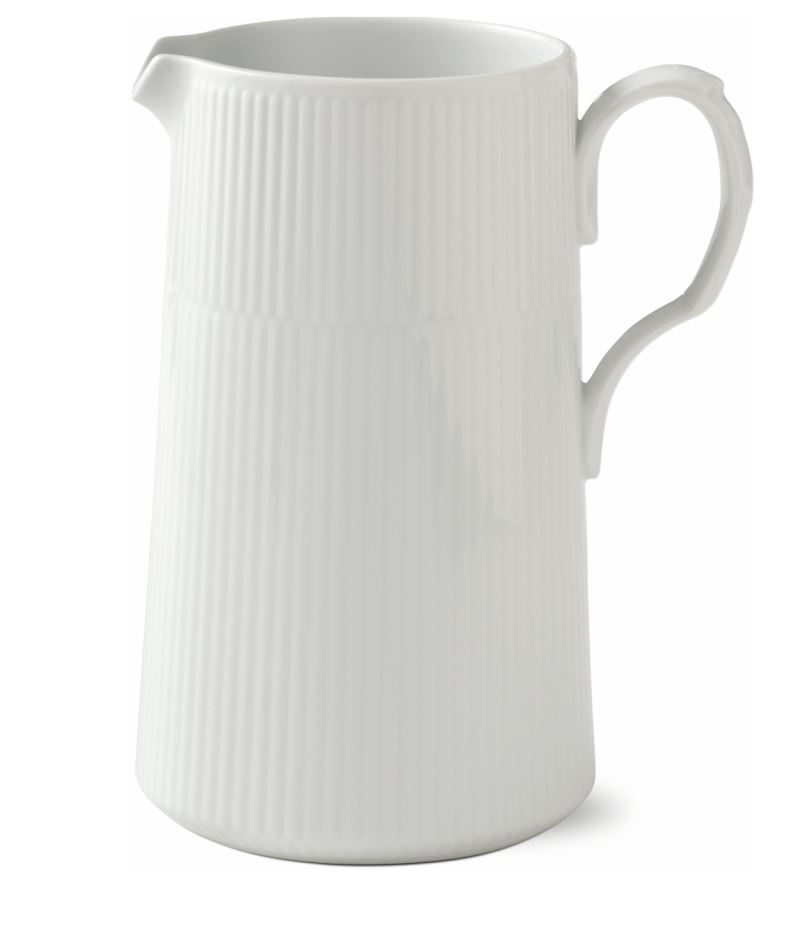 Royal Copenhagen WHITE FLUTED MODERN JUG 1.7L
