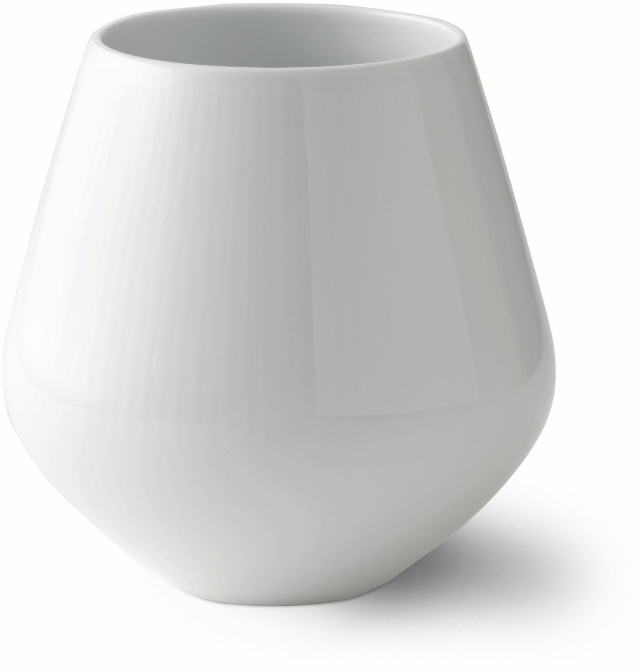 Royal Copenhagen WHITE FLUTED VASE 6