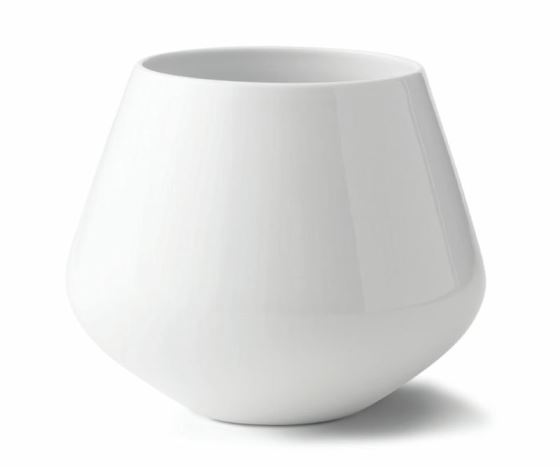 Royal Copenhagen WHITE FLUTED PLAIN VASE 8