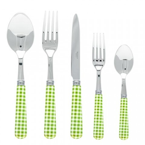 Sabre Gingham Garden Green Stainless