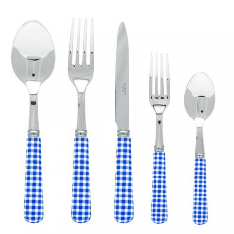 Sabre Gingham Lapis Blue Stainless