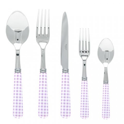 Sabre Gingham Lilac Stainless