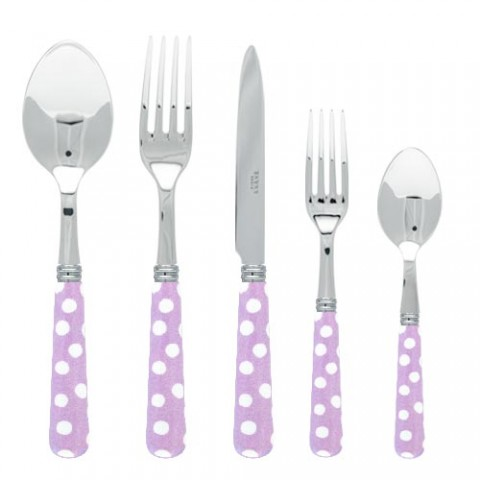 Sabre White Dots Lilac Stainless
