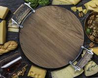 Vagabond House Cheese Tray - Stag Handles