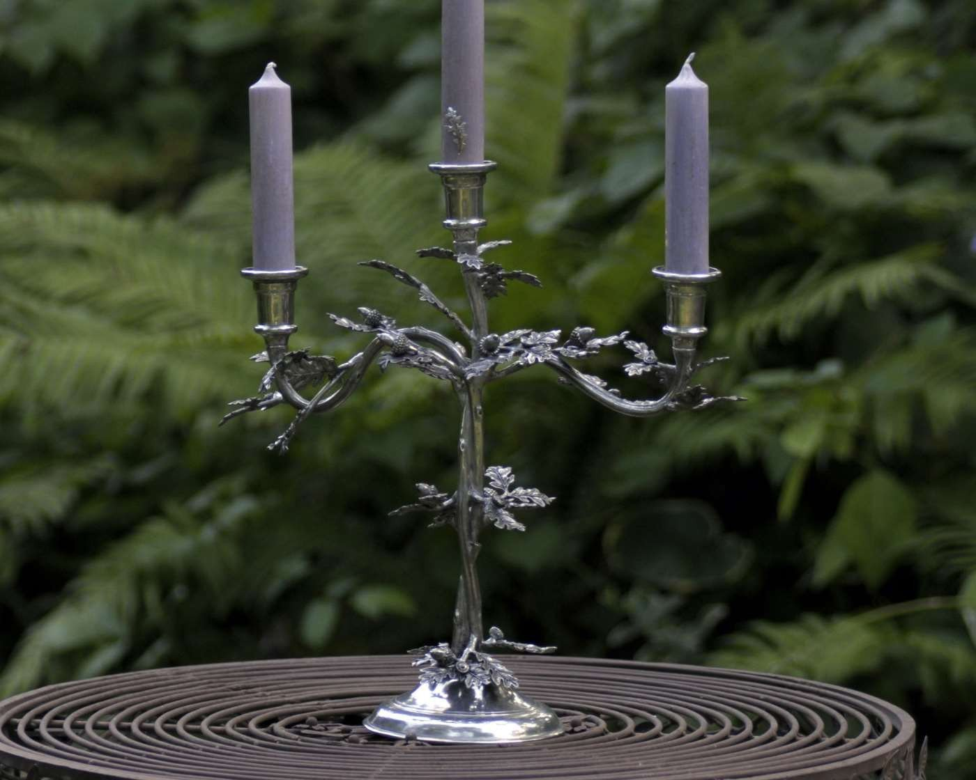 Vagabond House Candlestick - Oak Leaf  3 arm