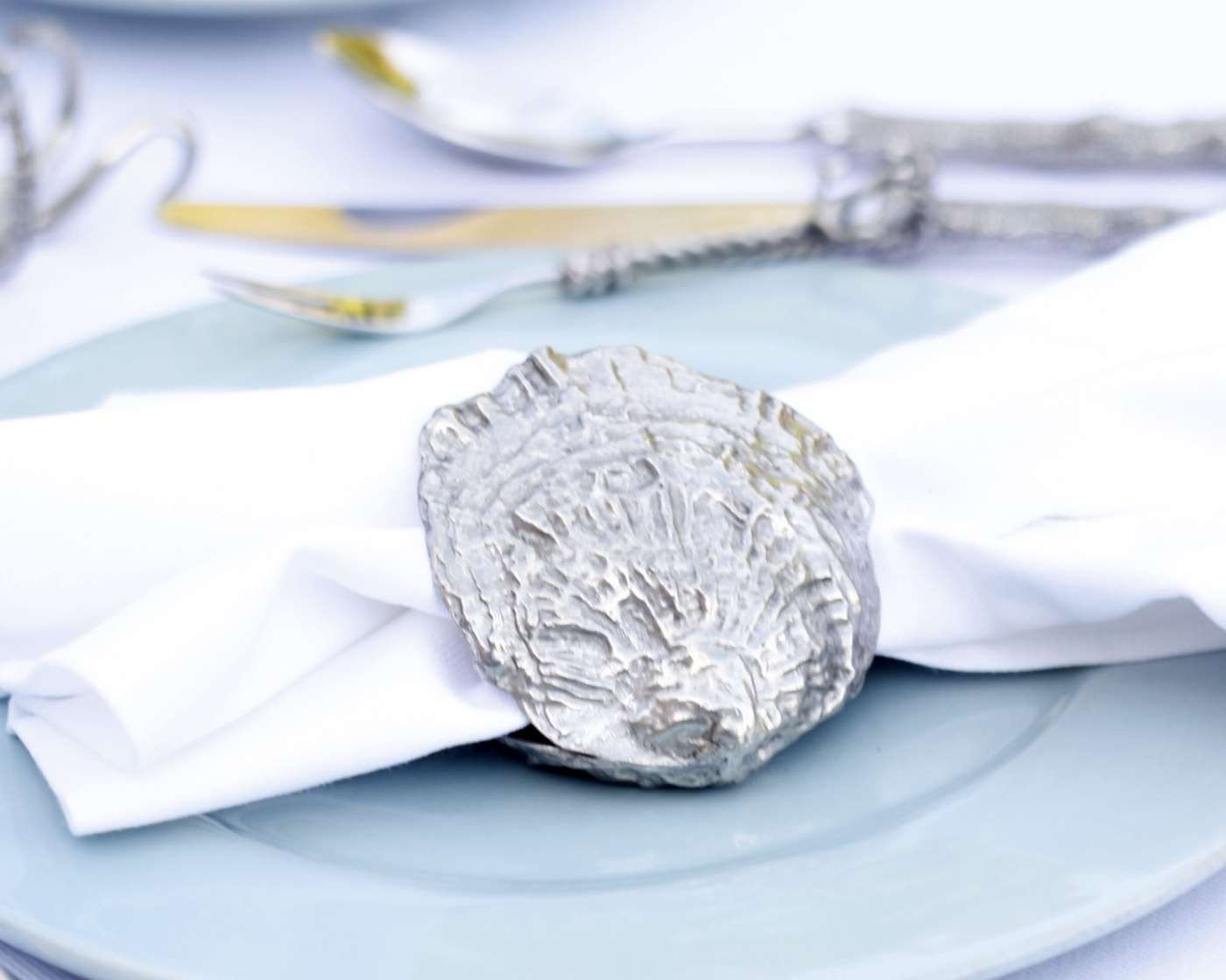 Vagabond House Napkin Rings  - Clam Shell