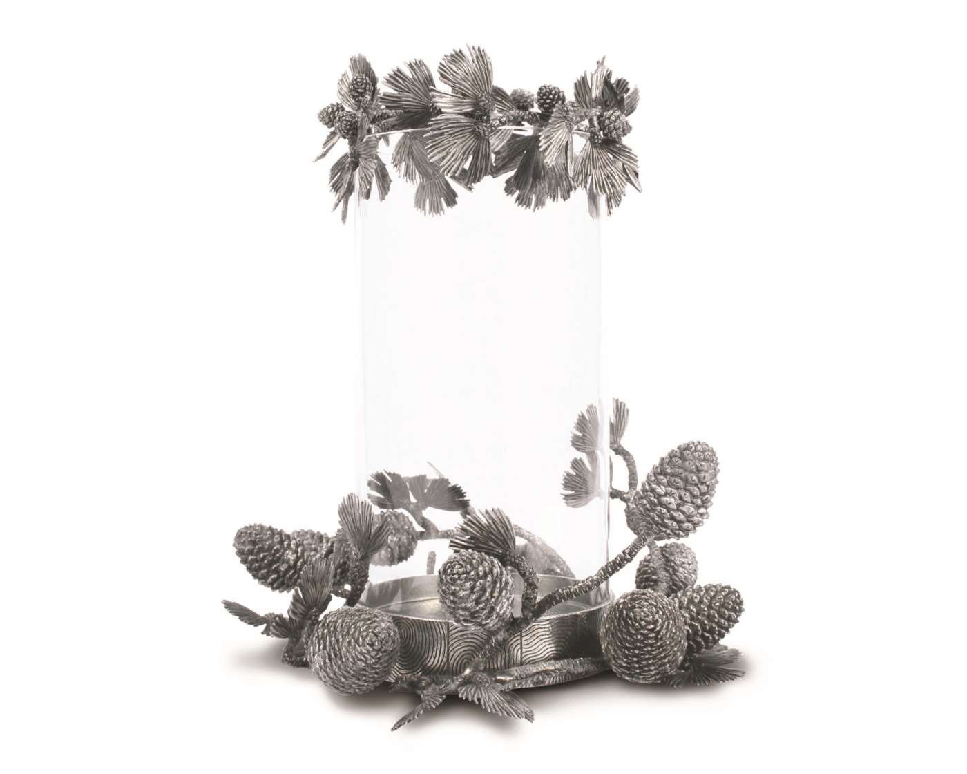 Vagabond House Pillar Candle Centerpiece - Pine Cone