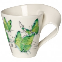 Villeroy and Boch NWC Deep Green Hairstreak Mug : Gift Boxed